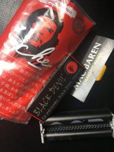 シャグ刻葉チェ・赤。手巻きタバコローラー、巻紙