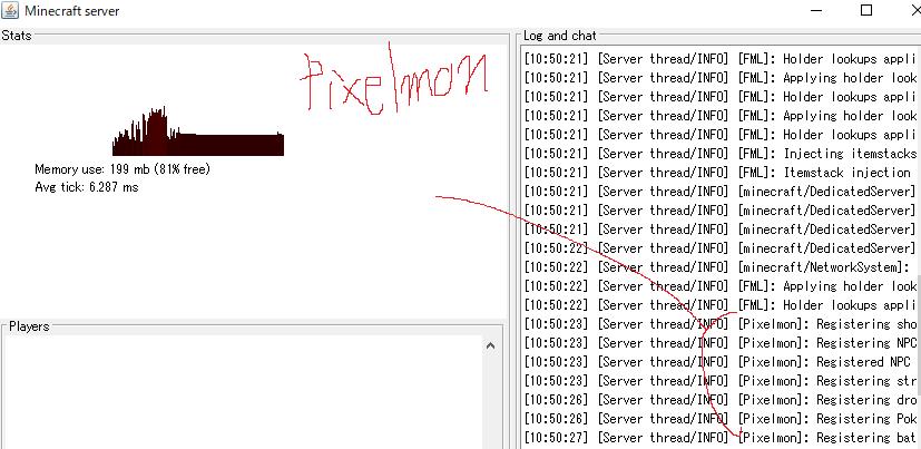 pixelmonが読み込まれている
