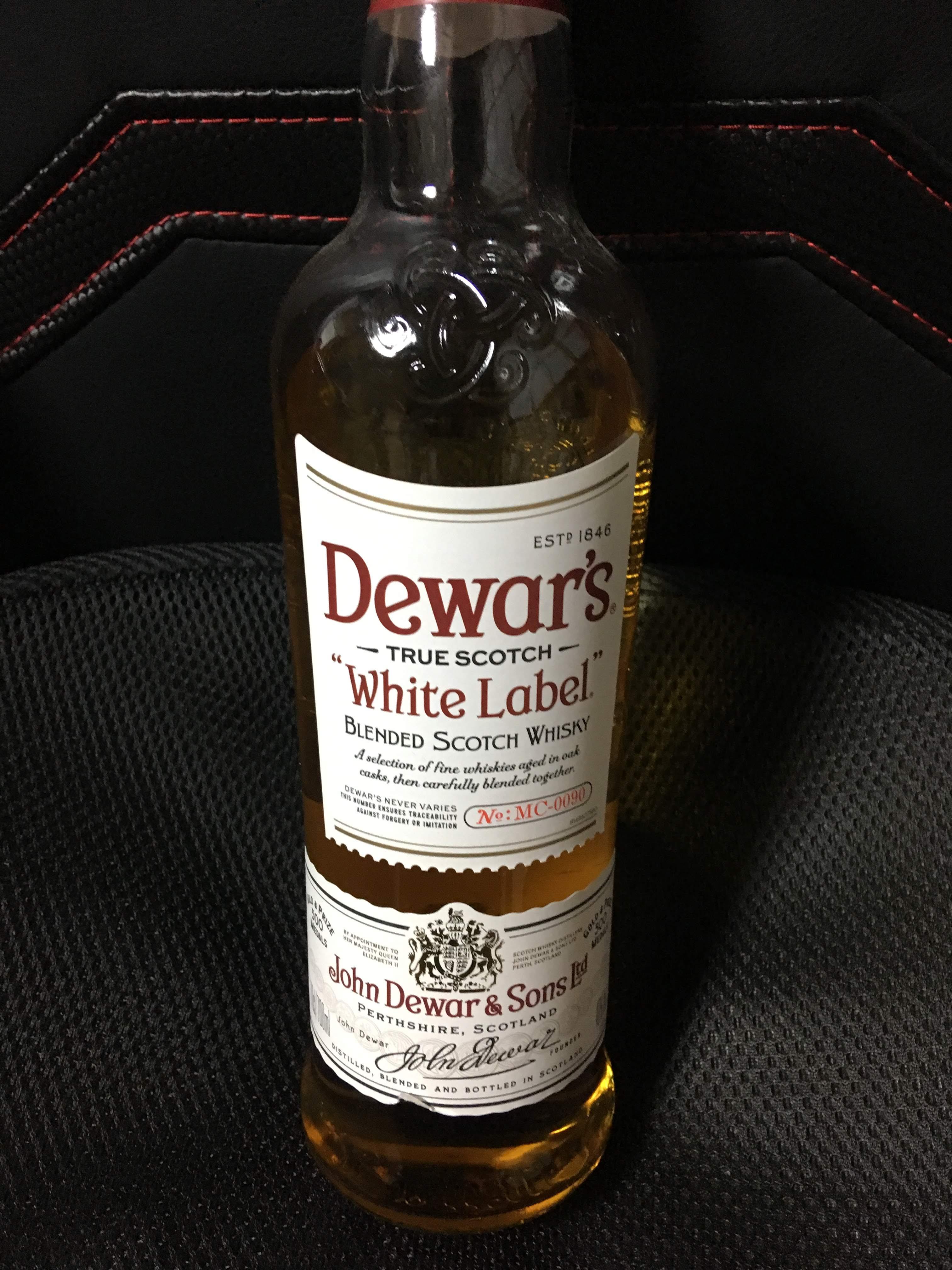 デュワーズホワイトラベル(少し飲んだ後)