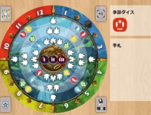 12季節の魔法使い、ボードゲームアリーナプレイ画面