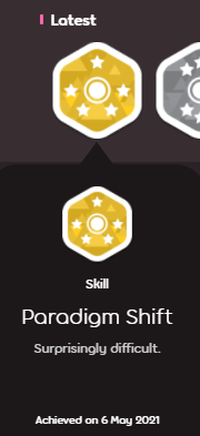 osu!メダル解除paradigm shift (surprisingly difficult)